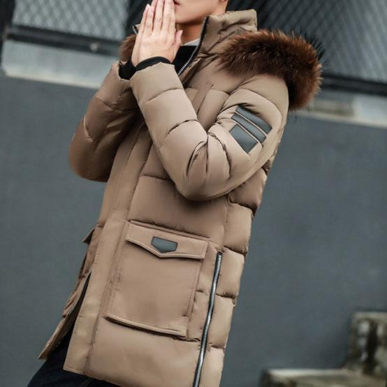 Fashion Winter Plain Thicken Eiderdown Long Coat