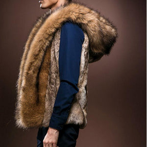 Casual Winter Plain Fur Thick Vest Coat