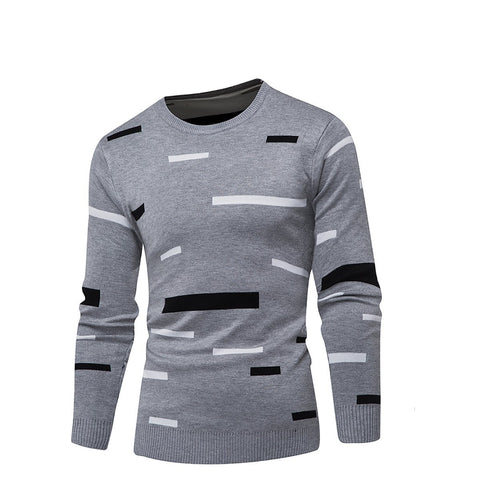 Casual Mens Round Collar Long Sleeve Sweater