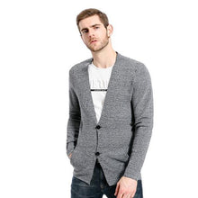Load image into Gallery viewer, Fashion Youth Casual Slim Button V Collar Long Sleeve Knitting Outerwear