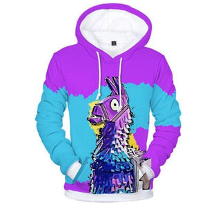 Stylish Casual Youth Loose Print Long Sleeve Men Hoodie