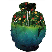 Load image into Gallery viewer, Stylish Casual Youth Loose Christmas Tree Print Long Sleeve Men Hoodie