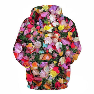 Fashion Rose Printed Hoodie