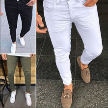 Load image into Gallery viewer, Fashion Plain Slim Fit Tight Pants