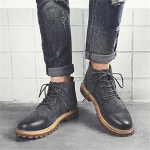 Load image into Gallery viewer, Fashion Casual Gentle Solid Color High Tube Men Martin Boot Shoes