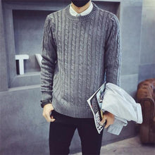 Load image into Gallery viewer, Fashion Casual Loose Solid Color Long Sleeve Men Sweater