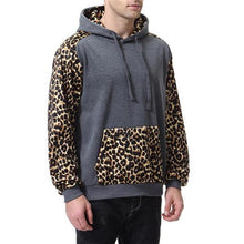 Load image into Gallery viewer, Casual Fashion Loose Leopard Print Long Sleeve Men Sport Hoodie