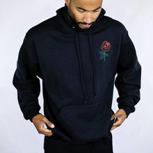 Load image into Gallery viewer, Plain Embroidery   Flower Hoodie