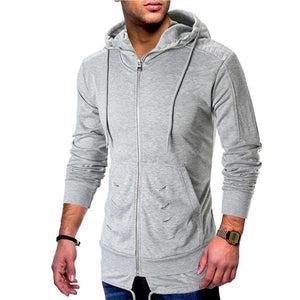 Casual Fashion Slim Solid Color Long Sleeve Men Outerwear
