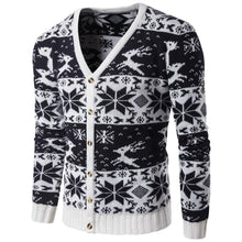 Load image into Gallery viewer, Fashion V Collar Floral Printed Button Sweater Coat