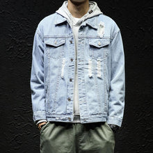 Load image into Gallery viewer, Casual Fashion Lapeled Slim Plain Denim Jacket