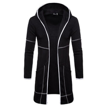 Load image into Gallery viewer, Fashion Casual Long Sleeves Warm Plain Hooded Long Coat