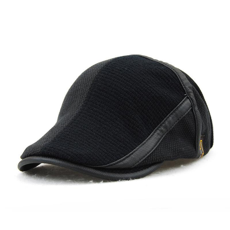 Fashion Classic Knitting Warm Color Block Peaked Cap