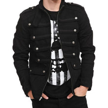 Load image into Gallery viewer, Casual Lapel Cpllar Plain Metal Button Zipper Jacket Coat