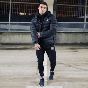 Men's New Winter Hooded Sports Running Coat