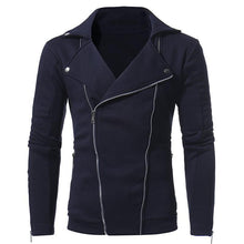 Load image into Gallery viewer, Casual Lapel Collar Plain Double Zipper Slim Coat