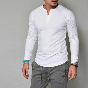 Fashion Open Solid Color Men's Shirt
