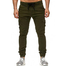 Load image into Gallery viewer, Men's Casual Woven Pocket Stitching Beam Foot Fitness Pants