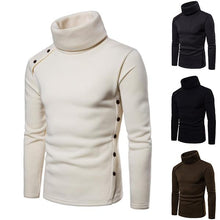 Load image into Gallery viewer, Men's Solid Color Slim Turtleneck Sweater