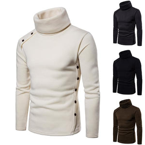 Men's Solid Color Slim Turtleneck Sweater