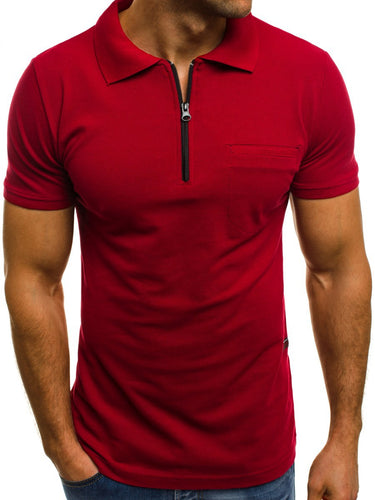 Men's Casual Plain Lapel Style New In T-Shirts