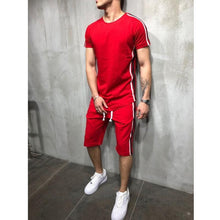 Load image into Gallery viewer, Men's Striped Stitched Hip Hop   Sports Brothers Set
