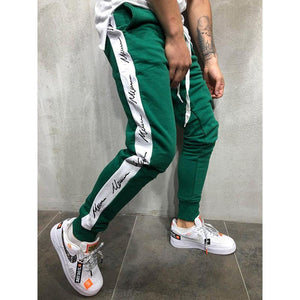 Hip Hop Trend Side Print   Trousers Slim Casual Pants