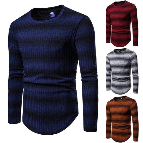 Fashion  Stripe  Style Men's Knitting Sweater