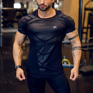 Fitness Solid Color Flash Drying Short-Sleeved T-Shirt