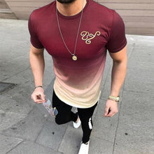 Load image into Gallery viewer, Men's Fashion Color Gradient Short-Sleeved T-Shirt