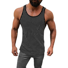 Load image into Gallery viewer, Men's Striped Bottoming Sports   Vest