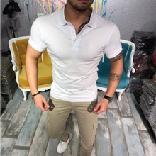 Load image into Gallery viewer, Men's Fashion Casual Solid Lapel T-Shirt