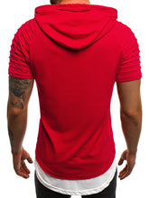 Load image into Gallery viewer, Casual Slim Solid Color Hooded T-Shirt
