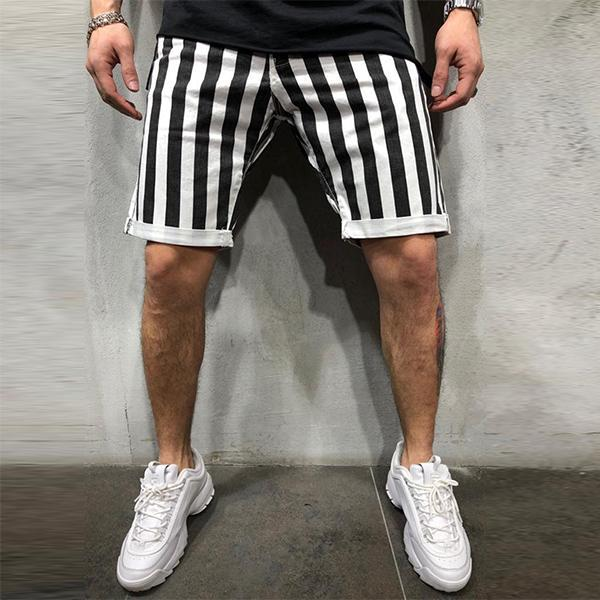 Men's Fashion Minimalist Striped Slim Shorts