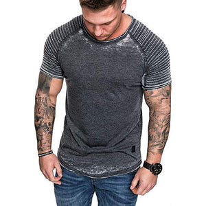 Men's Retro Style Tie-Dyed Raglan Sleeves T-Shirt