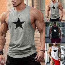 Load image into Gallery viewer, Fitness Sports Vest Five-Pointed Star Print Loose Vest Cotton