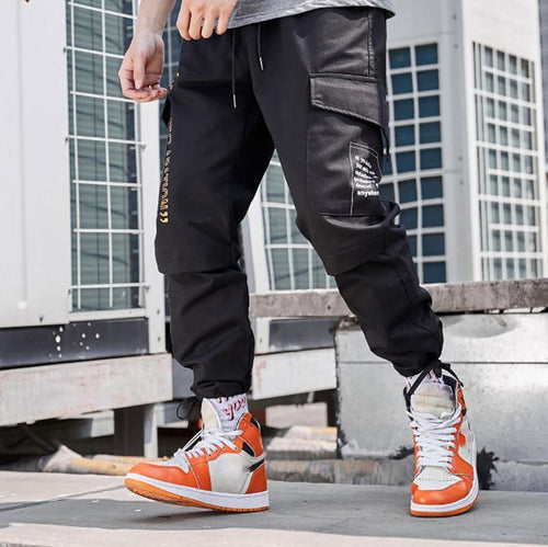 Casual Bunch Of Foot Pure Colour Cargo Pants