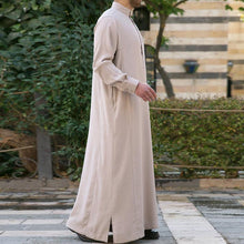 Load image into Gallery viewer, Muslim Arab Middle Eastern Long Sleeve Solid Color Men's Tops
