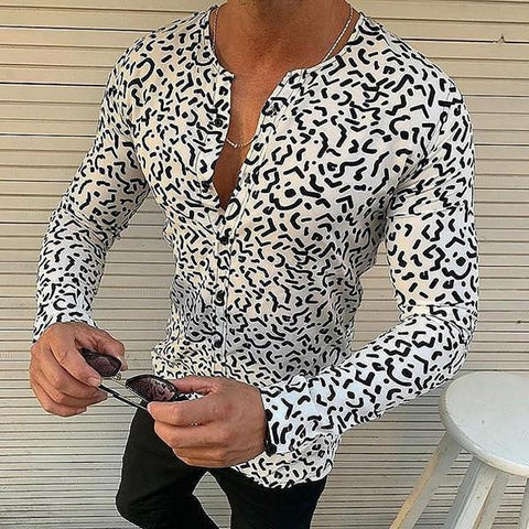 Fashion Casual Printed Slim Fit Shirt