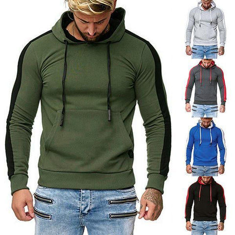 Casual Drawstring Hooded Pullover Sweatshirt