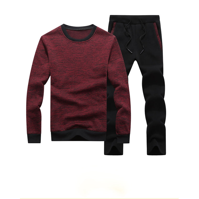 Men's Casual Long Sleeve Sweater Set