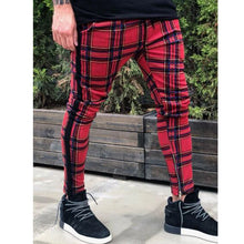 Load image into Gallery viewer, New European and American plaid trousers