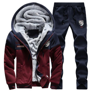 Plus Velvet Thickening Sports Baseball Men's Warm Suits