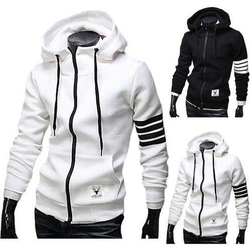 New Trend Fashion Slim Solid Color Street Men's Jacket
