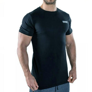 New Men's Casual Fitness Short Sleeve T-Shirt Homme Muscle Gyms T-Shirt