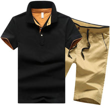Load image into Gallery viewer, 19 Colors Plus Size Men Summer Clothing Set New Fashion Casual Male Suits T- Shirt+Shorts Clothes Sets Tracksuits