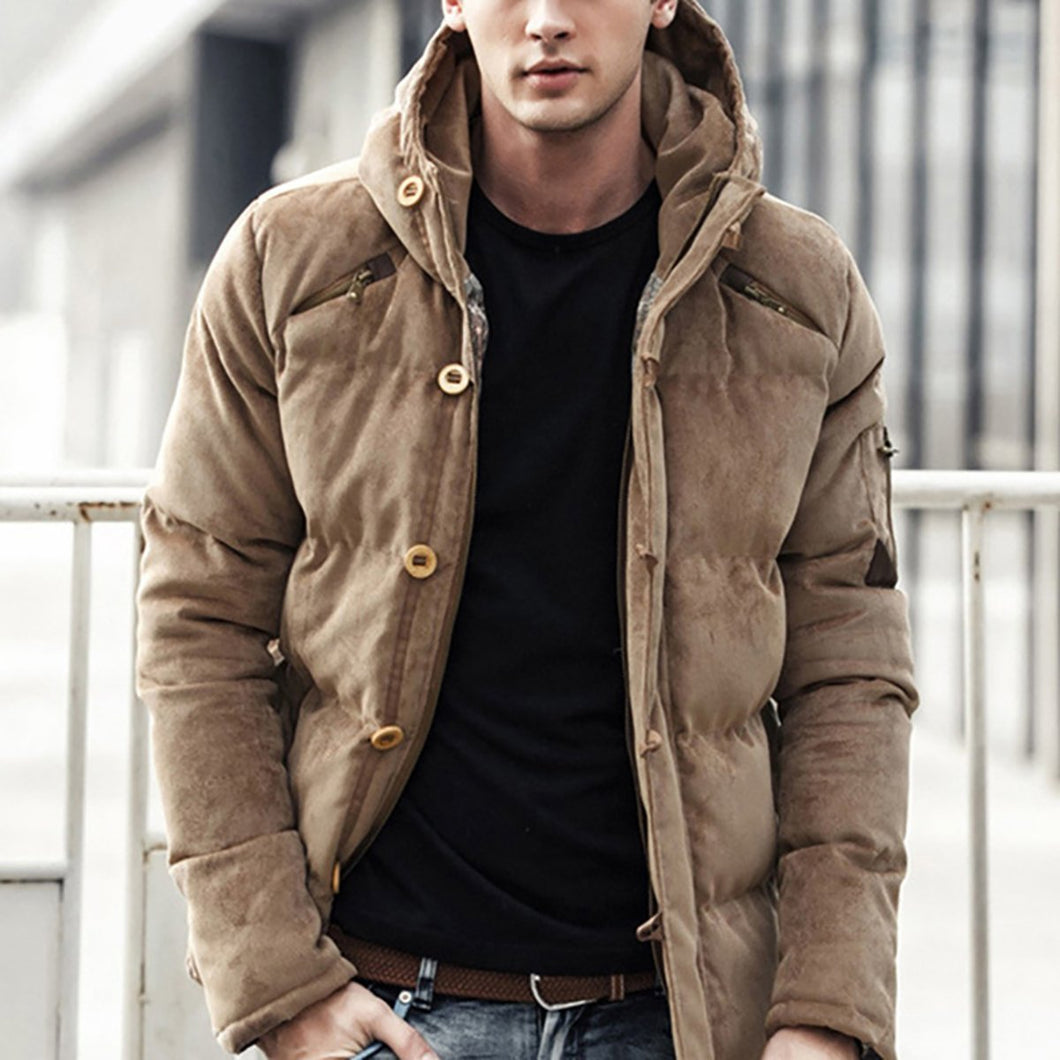 Mens Thickened Corduroy Jacket