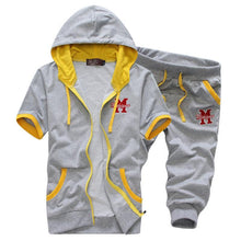 Load image into Gallery viewer, Men's Hooded Short-Sleeved Sports Fashion Casual Suit