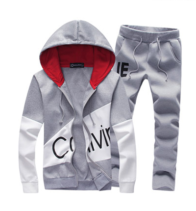 Men's Casual Cardigan Hoodie Sweater Set