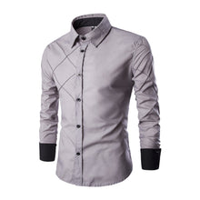 Load image into Gallery viewer, Men's Work Business / Casual Plus Size Cotton Slim Shirt